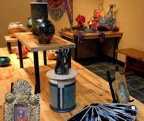 At Gallery 262, inside Escondido Municipal Gallery, you can buy ceramics, glass, jewelry, weaving, gourd art and other art pieces by local artists.