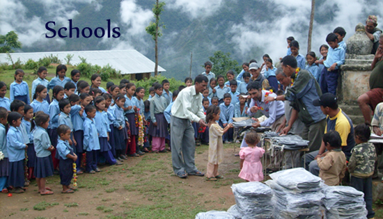 Providing school supplies and teachers' salaries.