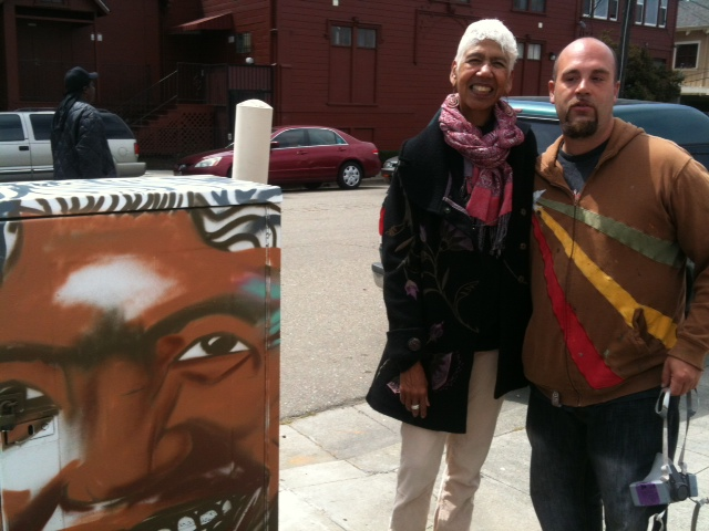 Desi WOME, Artist with Ericka Huggins