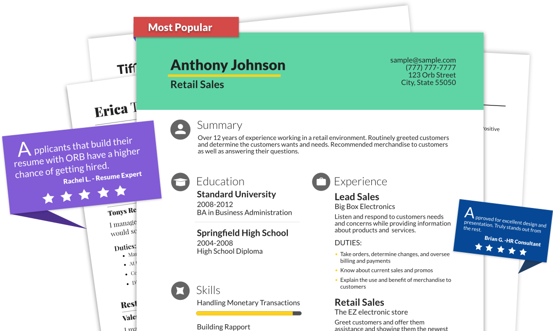 Free Resume Builders create resume content Free Resume Builder Online Resume Builders