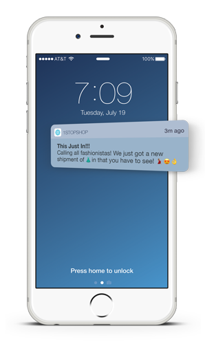 Push Notifications with Emojis