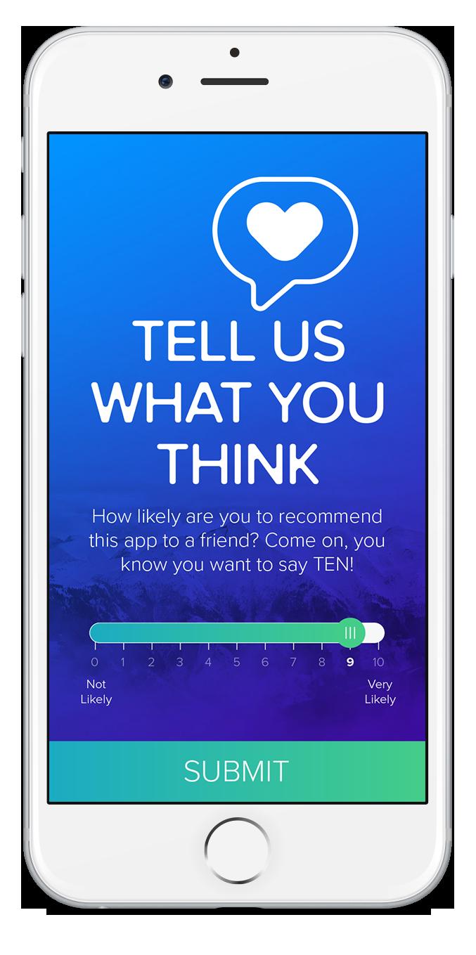 Mobile App Net Promoter Score Rating