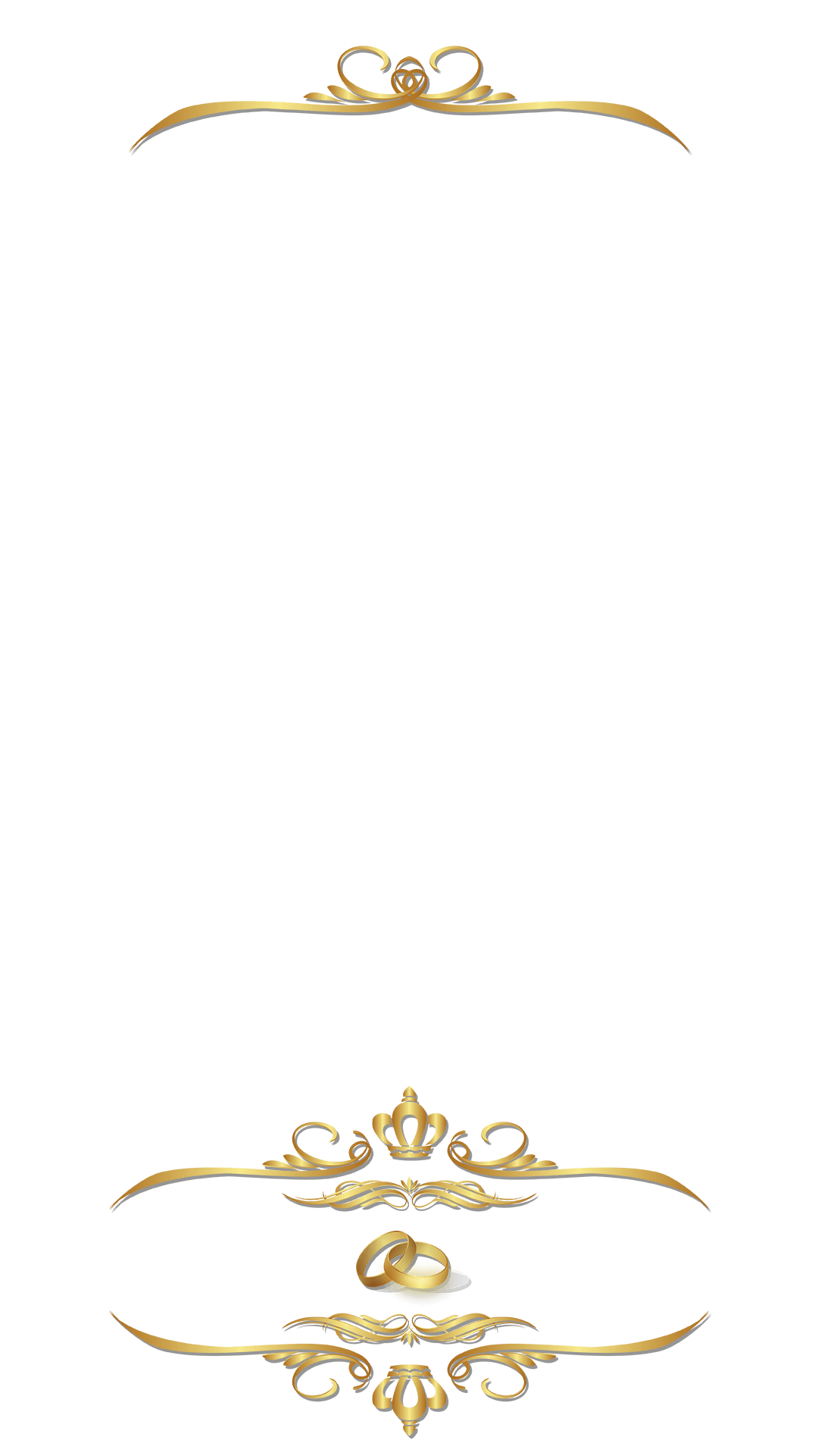 Elegant Golden Ornamental Wedding Snapchat Filter Geofilter Maker