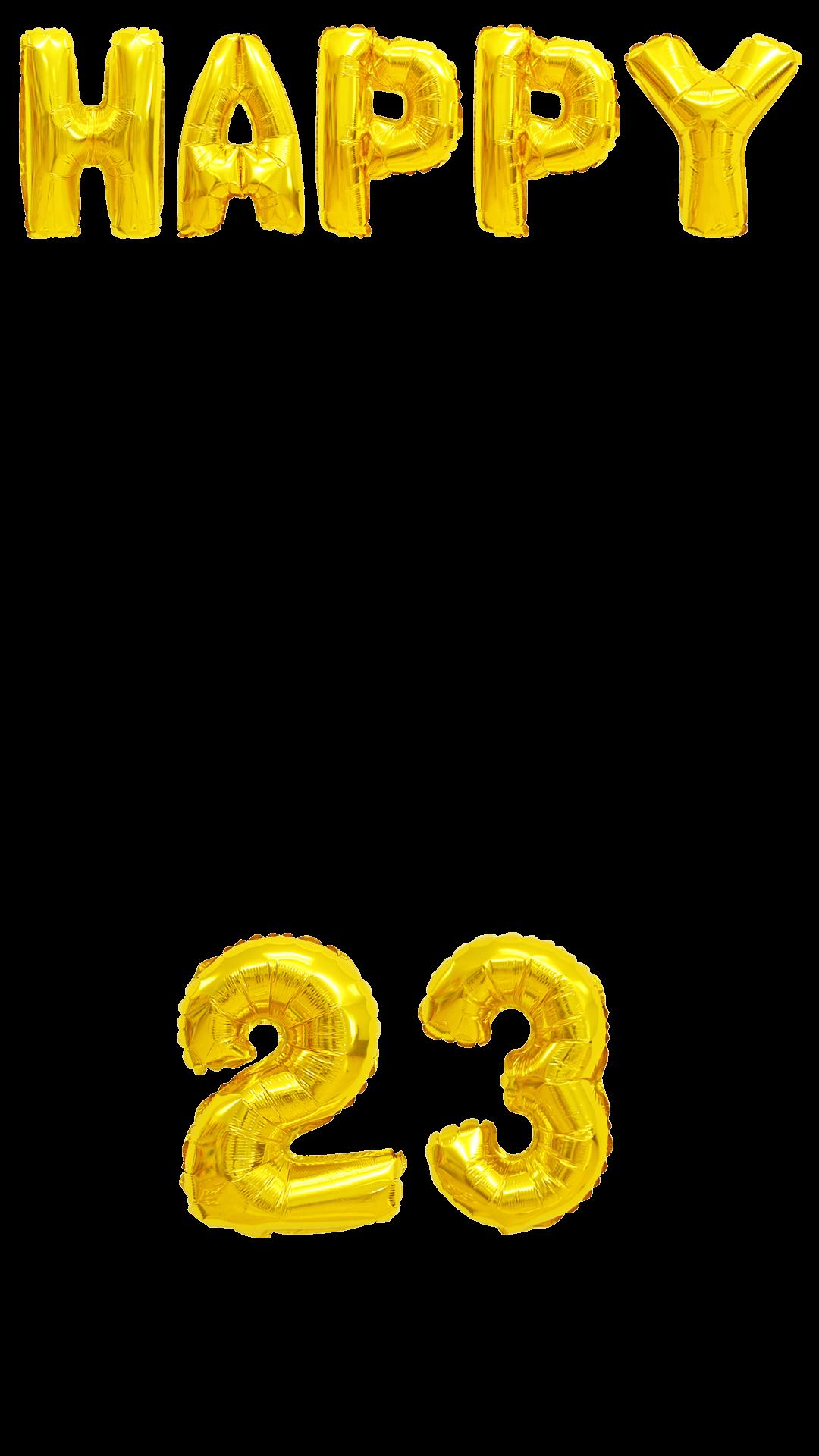 Gold Balloons 23rd Birthday Snapchat Filter