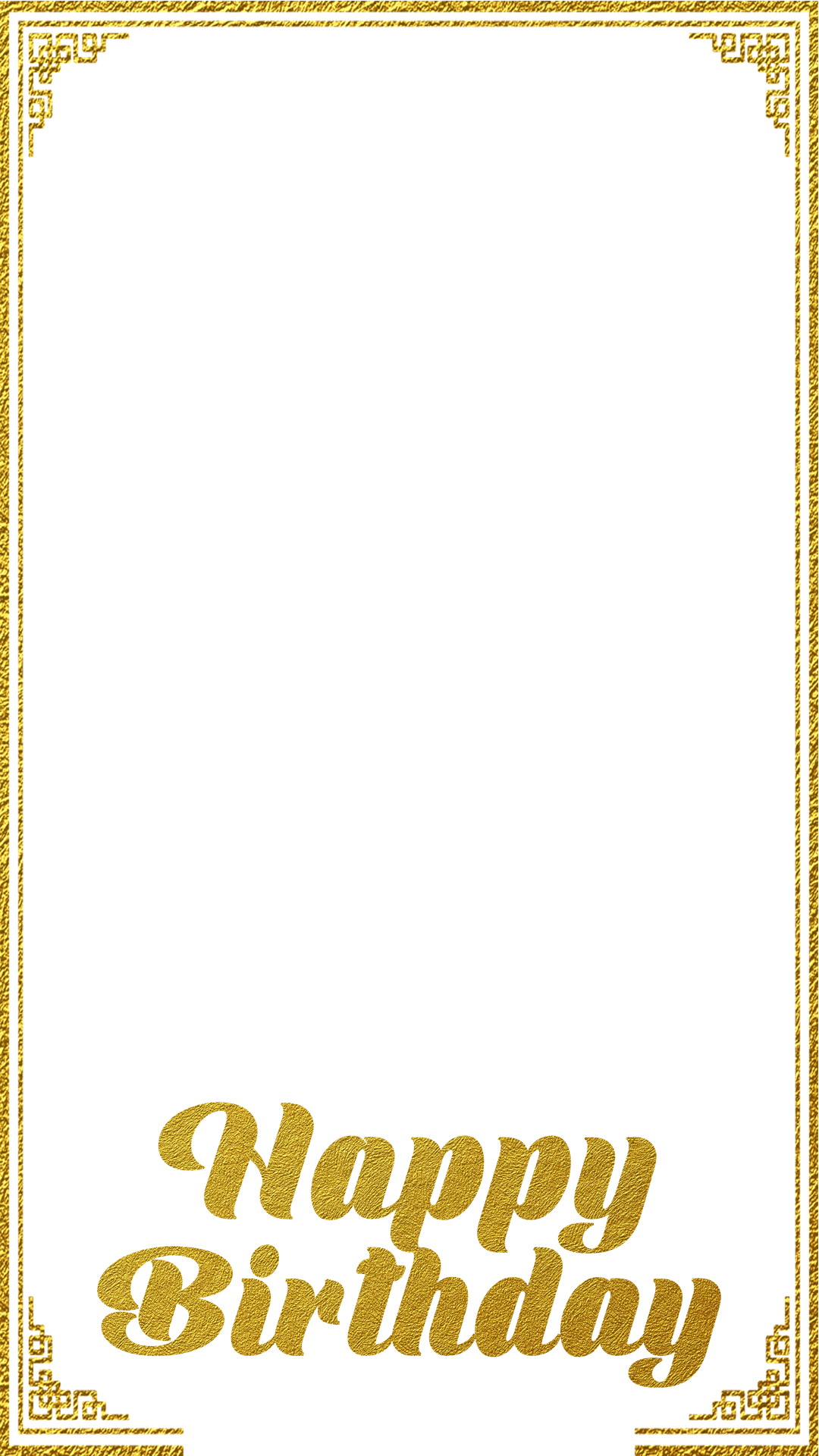 Gold frame birthday snapchat filter geofilter maker on filterpop for Make a geofilter free