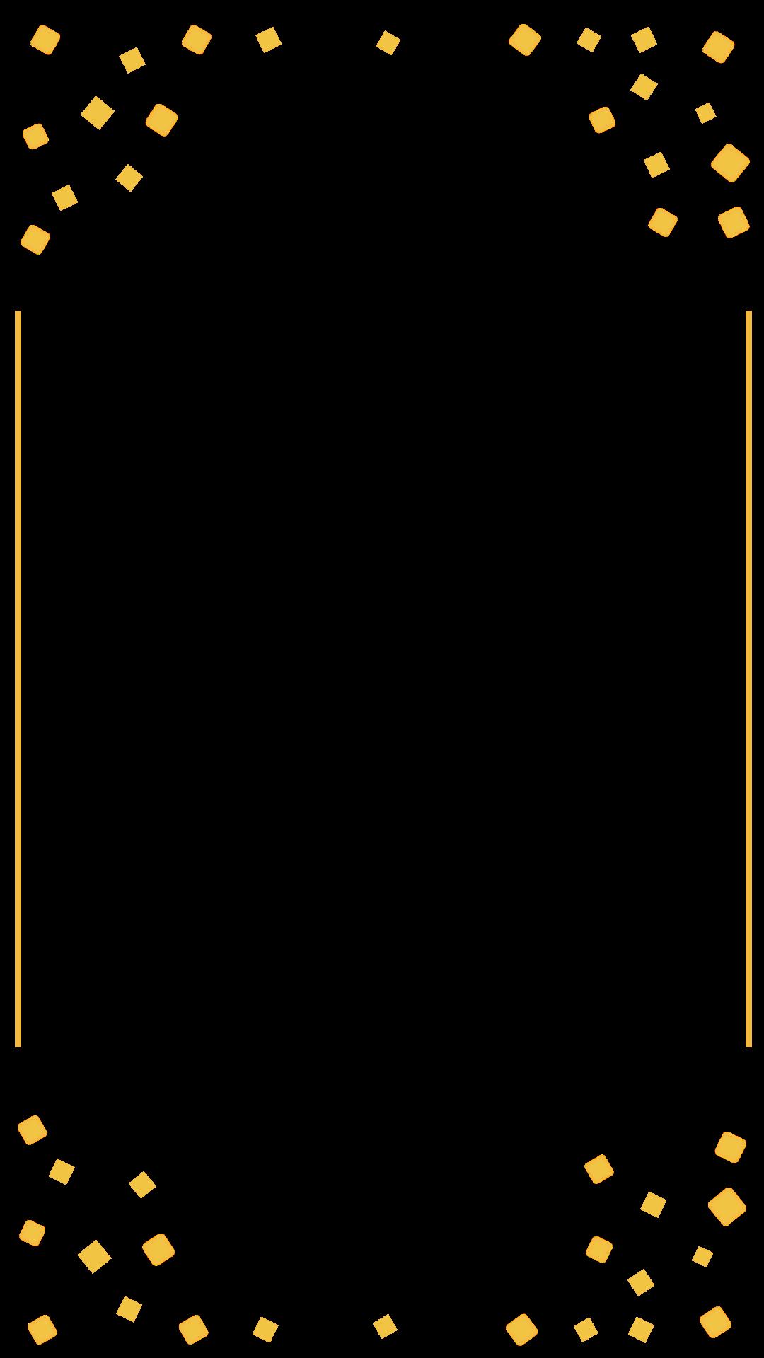 gold confetti border birthday snapchat filter geofilter maker on filterpop. Black Bedroom Furniture Sets. Home Design Ideas