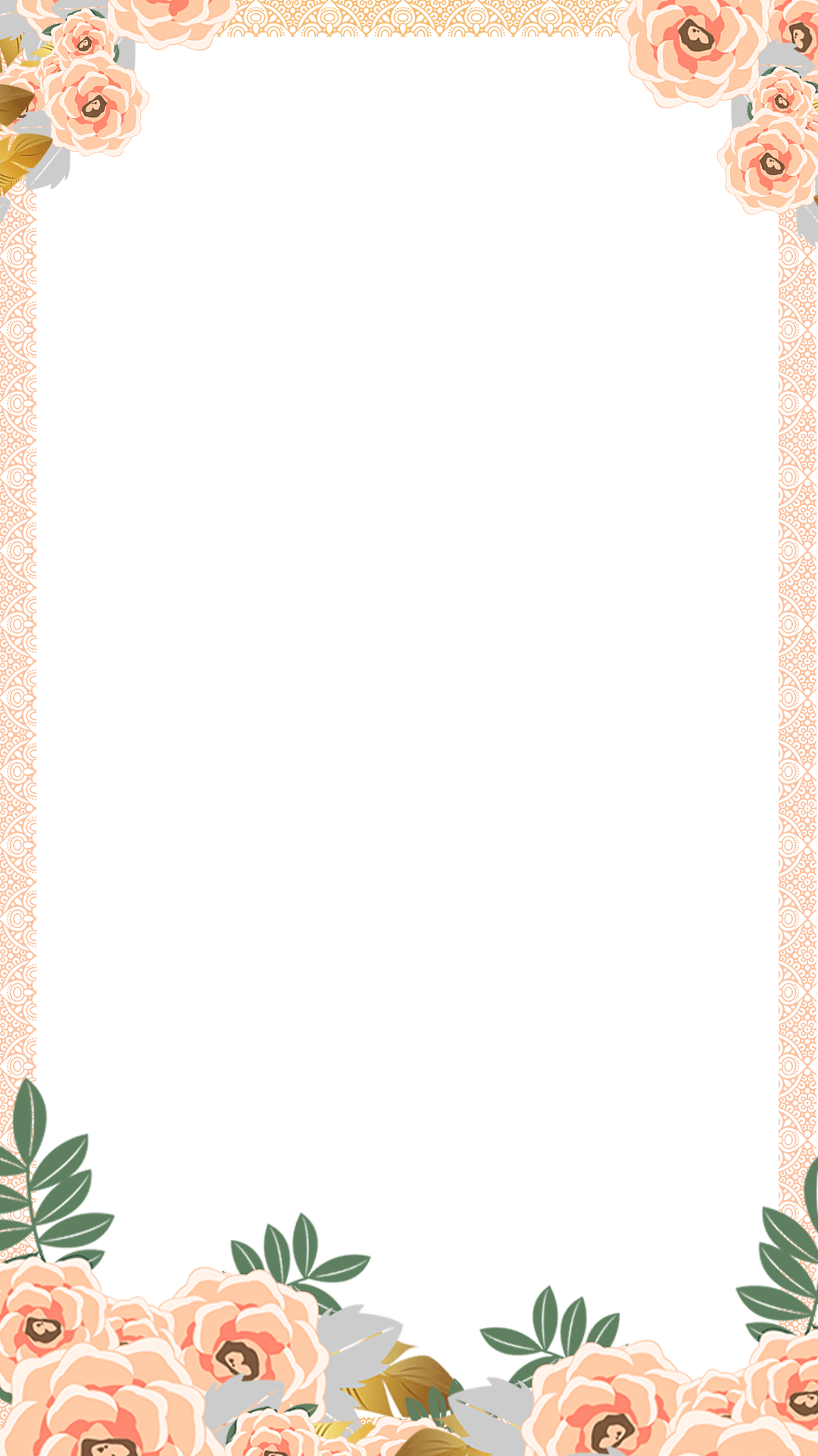 elegant floral indian wedding snapchat filter geofilter maker on