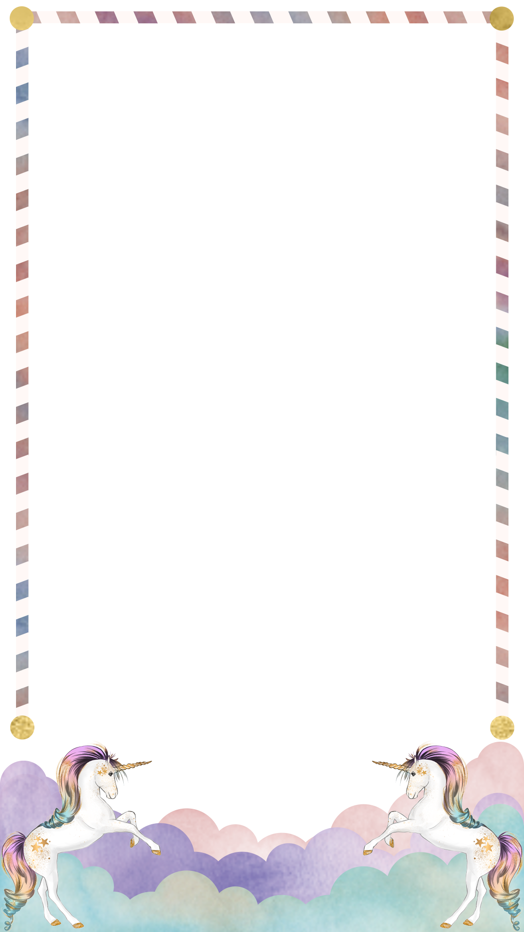 Unicorn border birthday snapchat filter geofilter maker on filterpop for Free geofilter templates