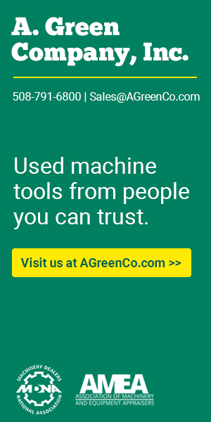 A. Green - Used machine tools from someone you can trust