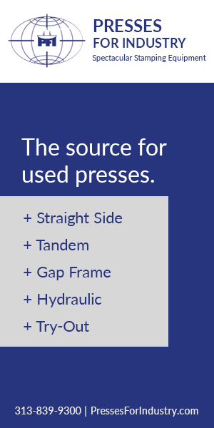 Presses: Straight Side, Gap Frame, Hydraulic, Tandem & Try-Out