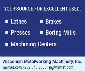 Call J R Kraemer and Wisconsin Metalworking for Machinery