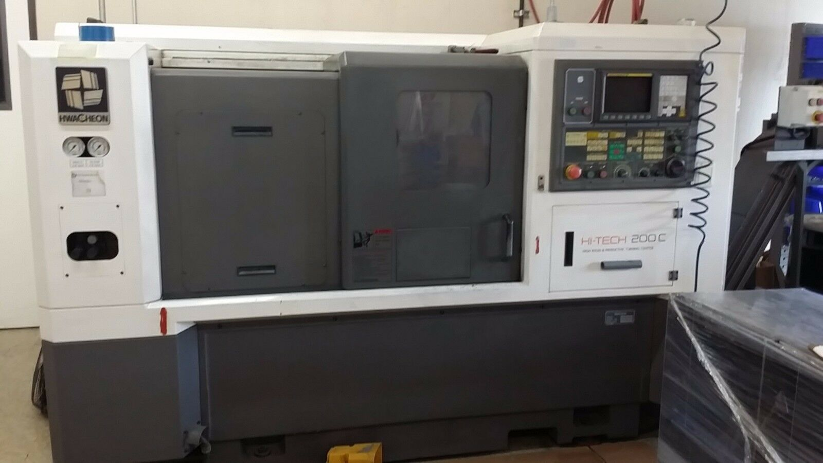 """Specifications:  NC Controller: Fanuc Oi-TB Spindle Motor: 11 HP Max Spindle Speed: 3,500 RPM Taper: MT#4  Chucksize: 10"""" Turning Diameter: 13.79""""  Machining Length: 24.80"""" Number of tool station: 10 Rapid Speed (X / Z) mm/min: 30/30 Max. Stroke  (X"""