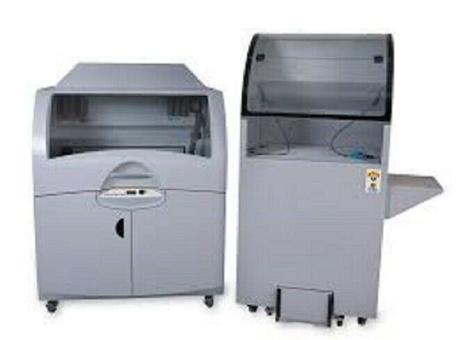 ZCorp ZPRINTER 850 Full Color 3D Printer w Depowdering Station = 3D SYSTEMS ProJet 860 / Includes:  ZPrinter 850 3D Printer 3D Systems Core Recycling Unit 10 Waste Trays Monitor, Keyboard, and Mouse Grease Gun