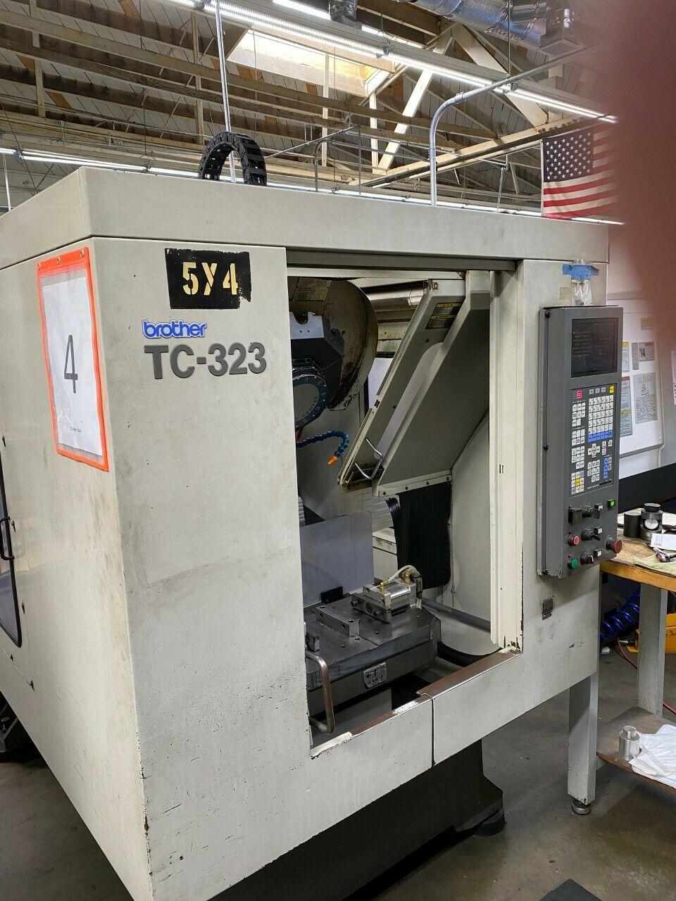 1999 BROTHER TC-323 DRILL & TAP MACHINE 10 ATC 16x12x10 10K rpms