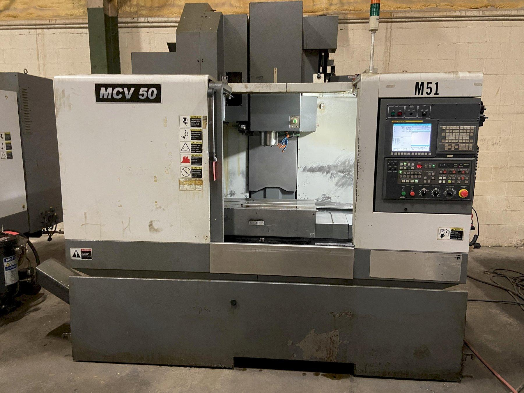 "Samsung MCV-50 CNC Vertical Machining Center, Fanuc Oi, 41""/21""/21"" Travels, 10K Spindle, CT40,"