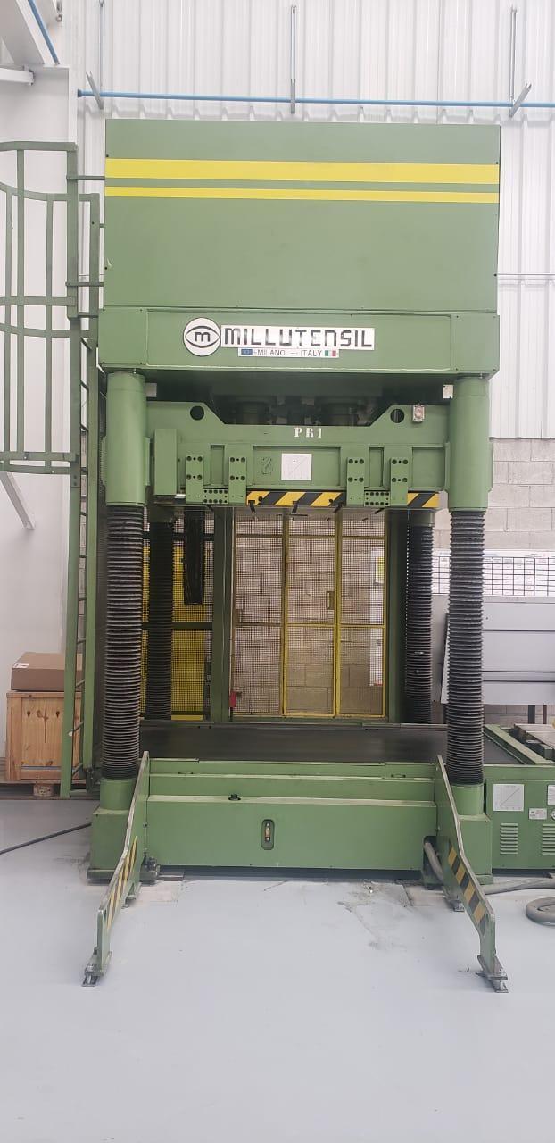 """Millutensil MIL163 150 Ton Hydraulic Spotting Press, 39.37"""" Stroke, 54"""" x 68"""" Bed Size, 15.75""""-5"""