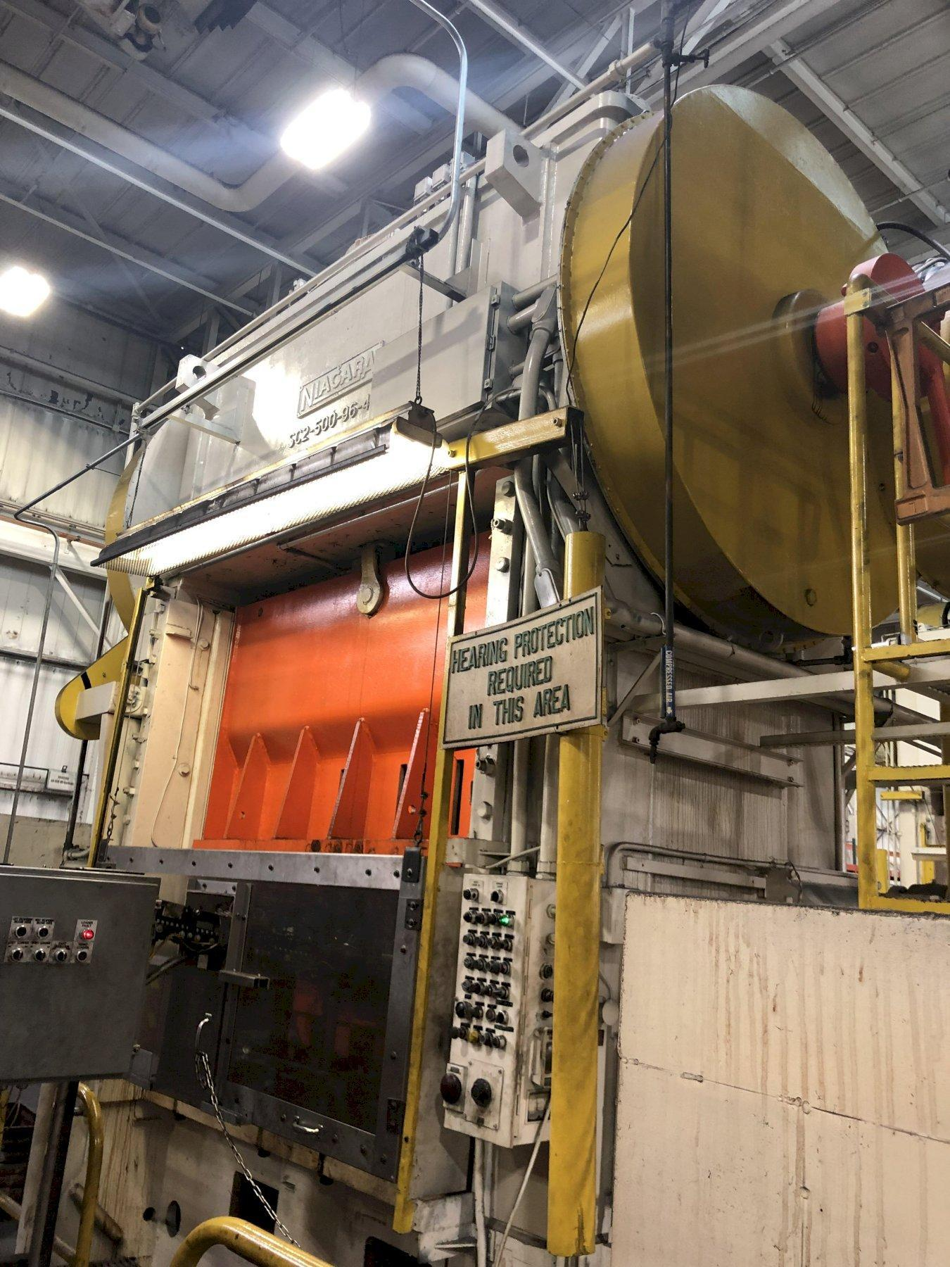 500 ton Niagara SC2-500-96-48P Straight Side Press - Reconditioned with New Controls