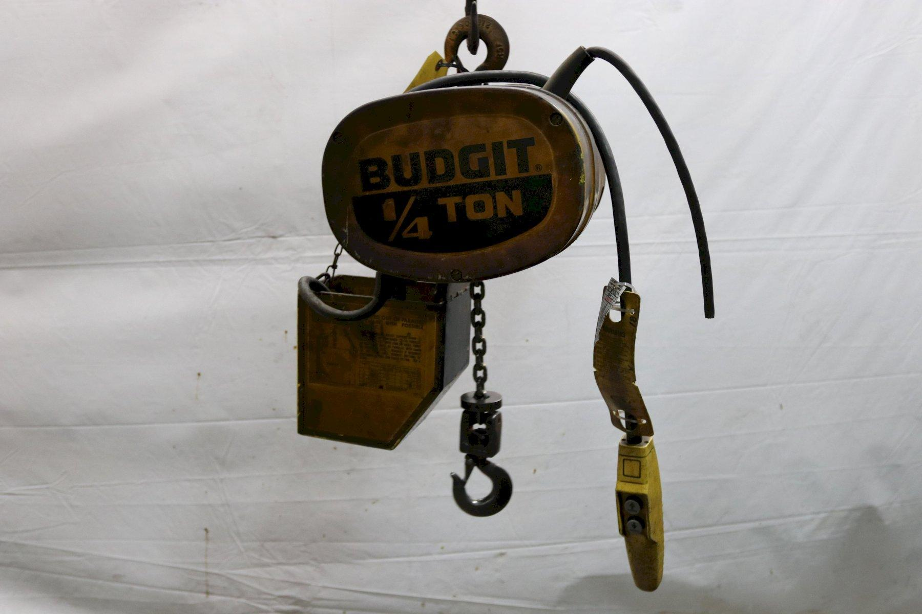 1/4 TON BUDGIT ELECTRIC CHAIN HOIST: STOCK #11998