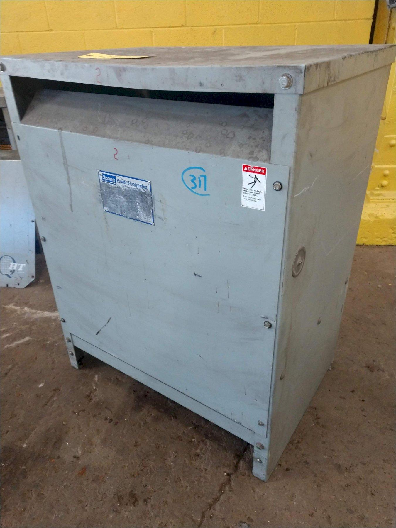 46 KVA SPANG 480 DELTA TO 123 DELTA  ELECTRIC TRANSFORMER: STOCK #11922