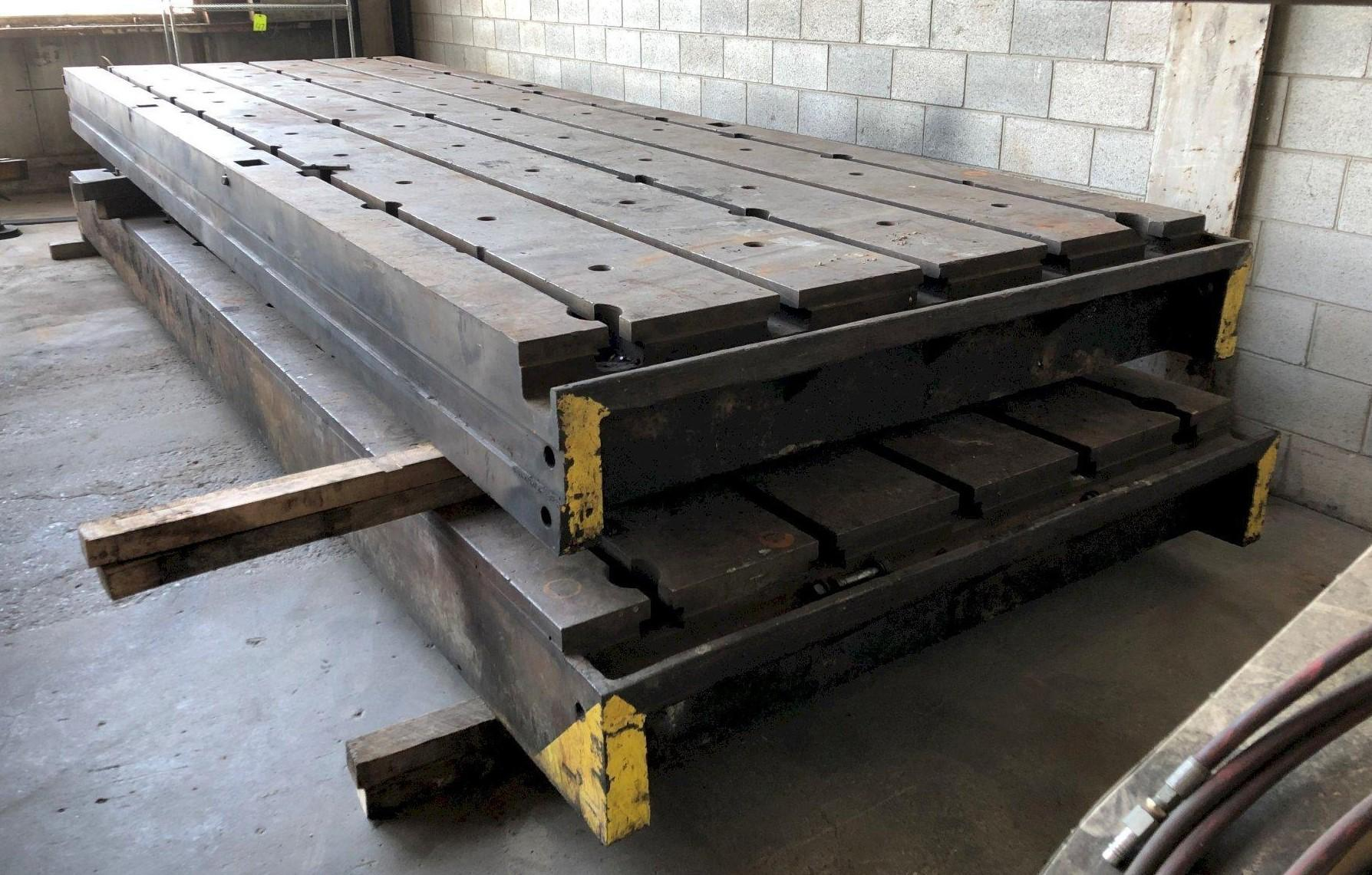 """77"""" X 226"""" X 13-3/4"""" HIGH T-SLOTTED FLOOR PLATE: STOCK 11258"""