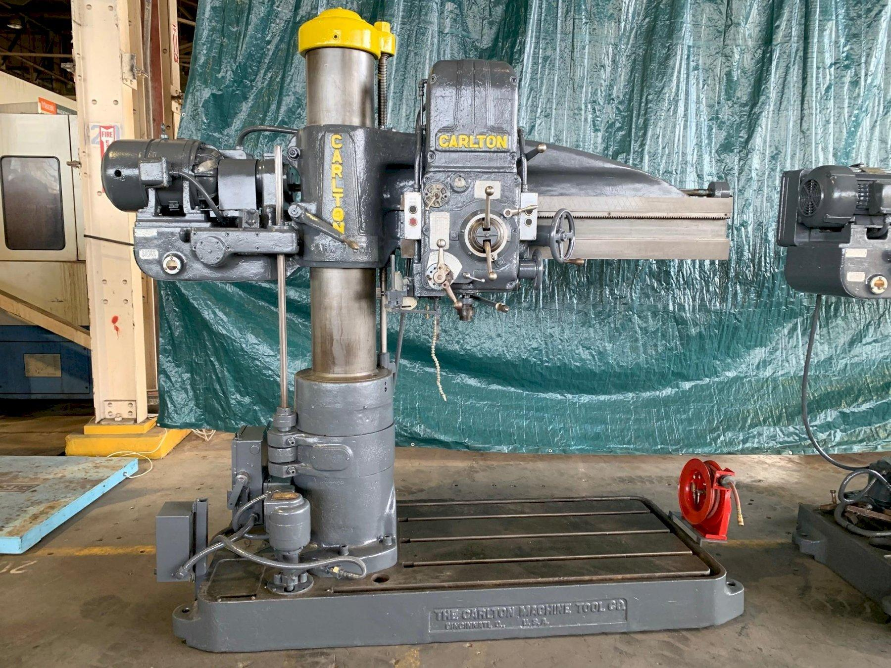 "4' X 11"" CARLTON MODEL #1A 2000 RPM RADIAL ARM DRILL: STOCK #10998"