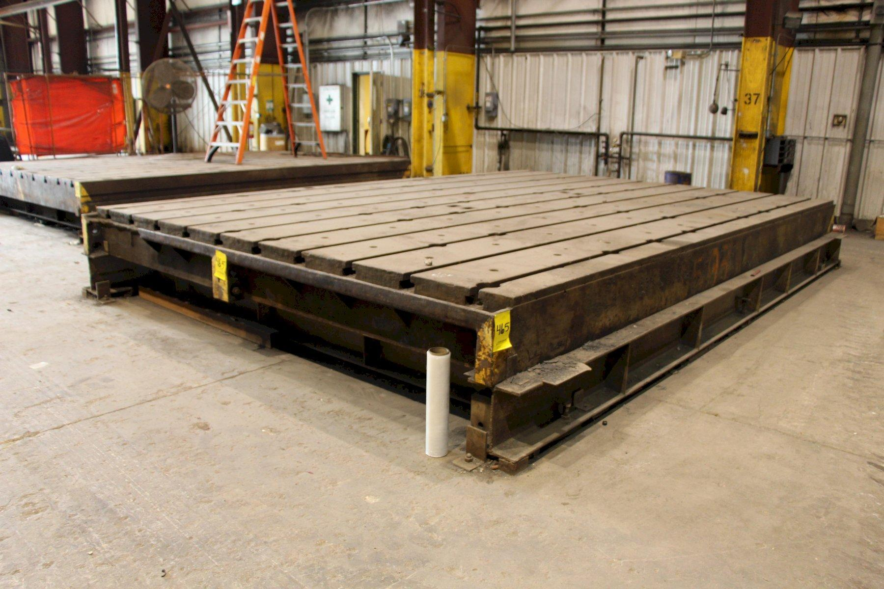 """154"""" X 226"""" X 13-3/4"""" HIGH T-SLOTTED FLOOR PLATE: STOCK #11492"""