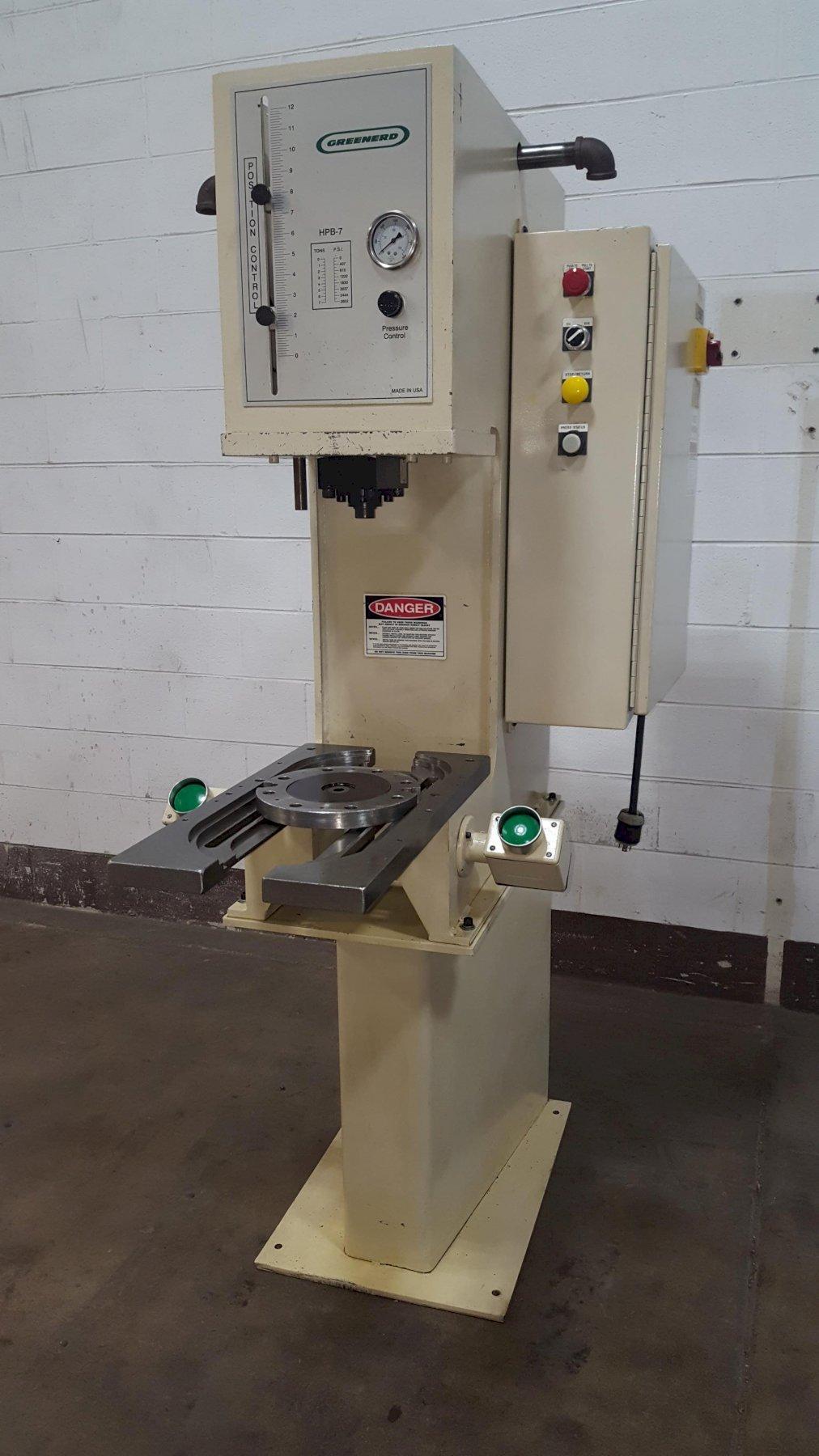 7-Ton Greenerd Model HPB-7 Bench Mounted Hydraulic Press