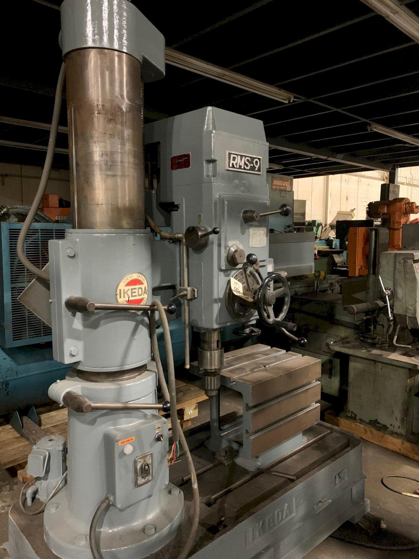 "USED IKEDA MODEL RMS-9 36"" X 9"" RADIAL ARM DRILL PRESS, Year 1977, Stock # 10683"