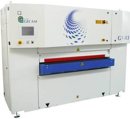 USED GECAM  MODEL GT 13S LINEAR STEEL WIDE BELT DEBURRING MACHINE, YEAR 2013, STK# 10660