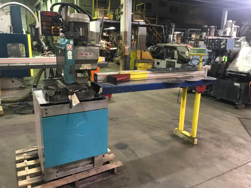 USED KMT C 360 SA SEMI-AUTOMATIC VERTICAL COLUMN COLD SAW WITH 6' TIGER STOP, Year 2006, Stk# 10
