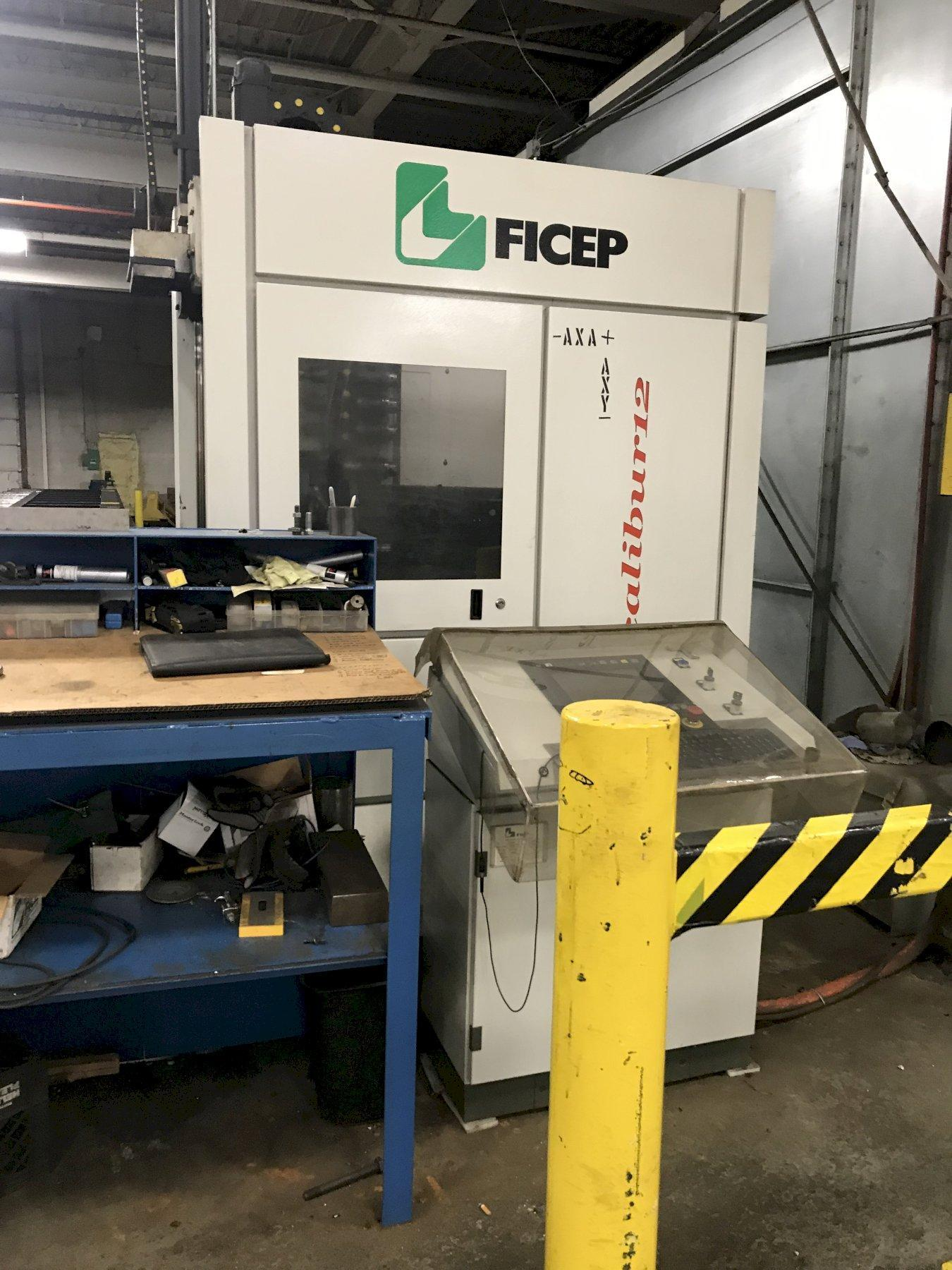 USED FICEP MODEL EXCALIBUR 12 CNC BEAM DRILL LINE WITH 60' OF TABLE, STOCK# 10651, YEAR 2012