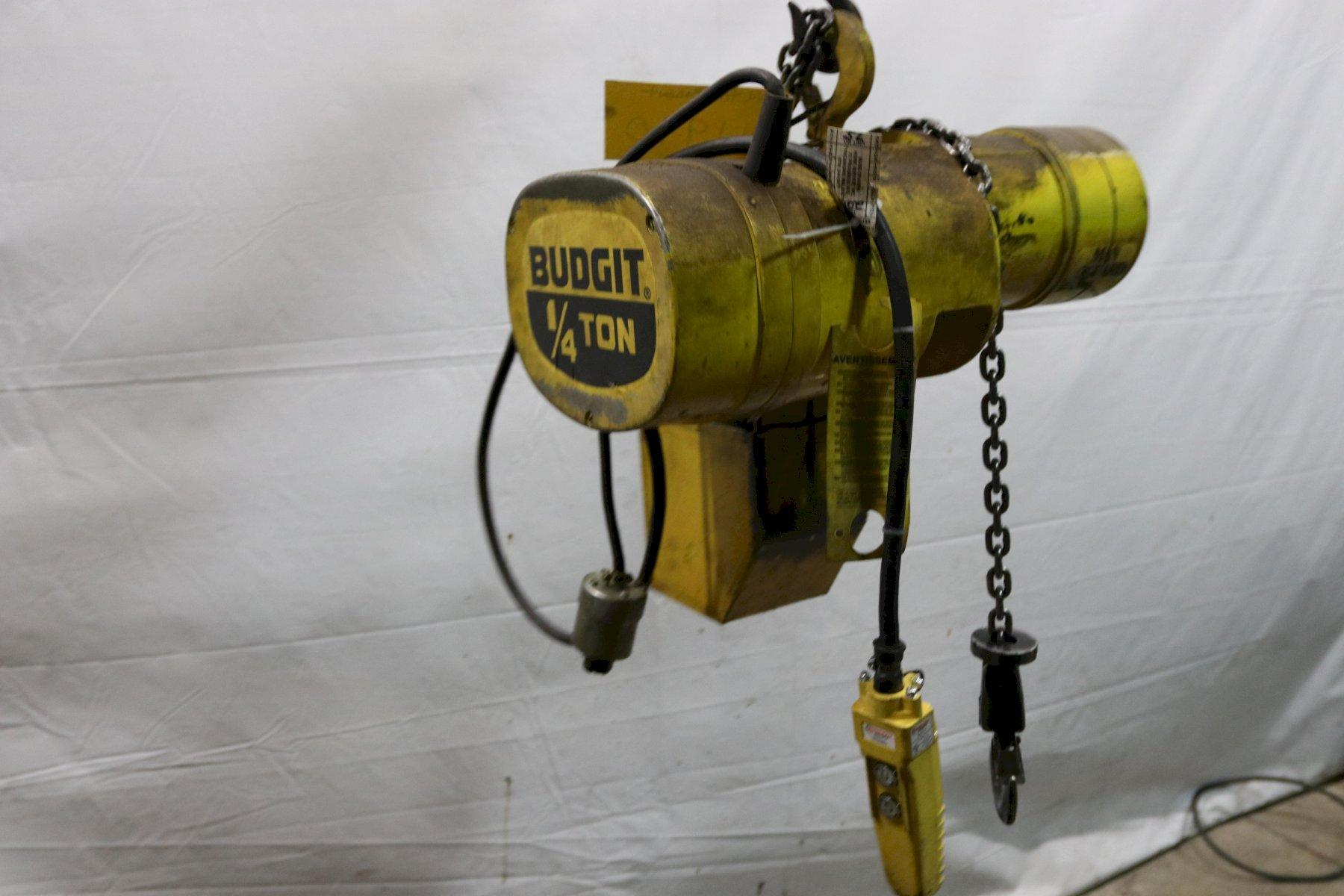 1/4 TON BUDGIT ELECTRIC POWERED CHAIN HOIST : STOCK #11990