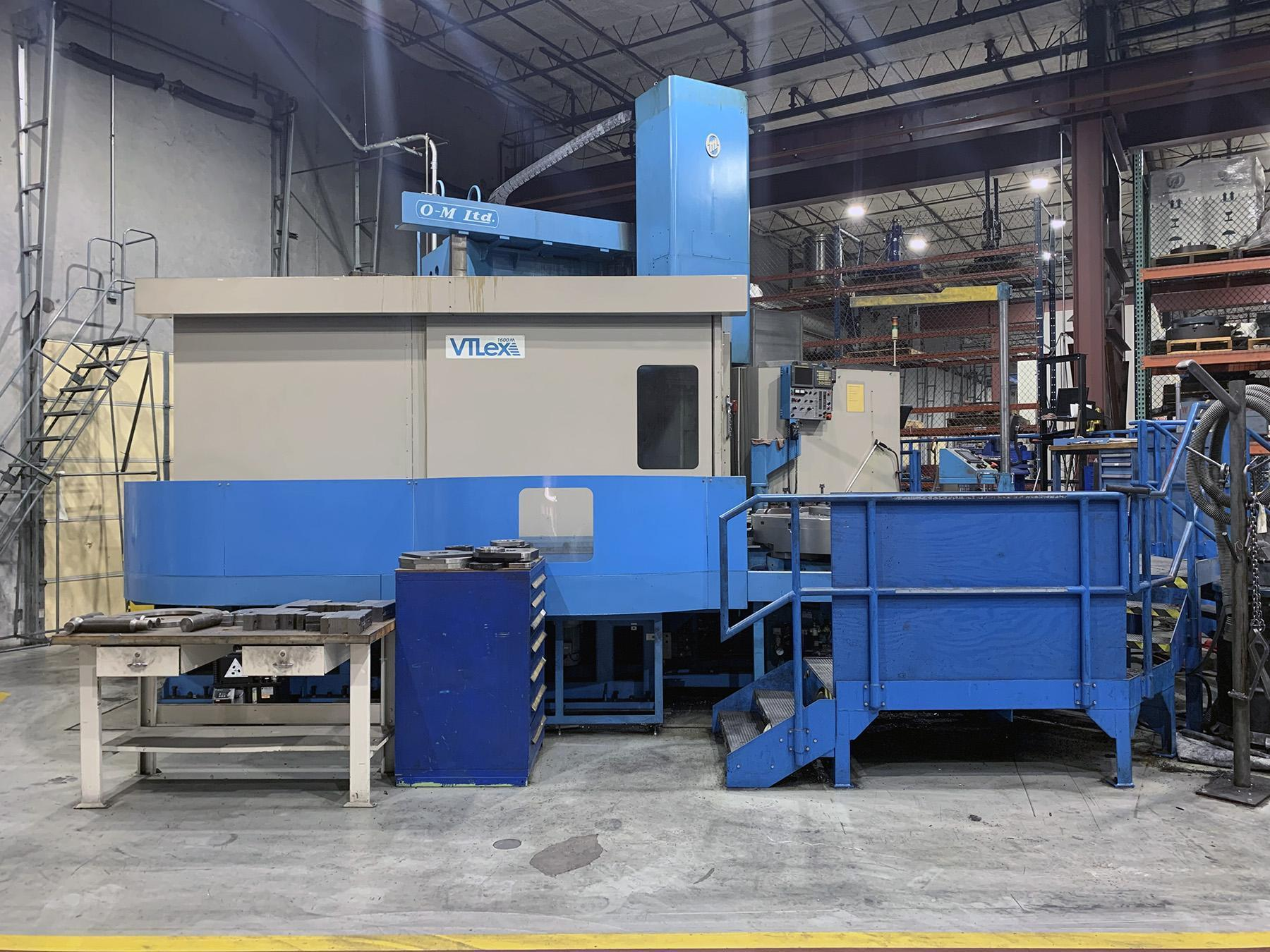 USED, OM VTLEX 1600M DUAL PALLET 3 AXIS CNC VERTICAL MACHINING CENTER