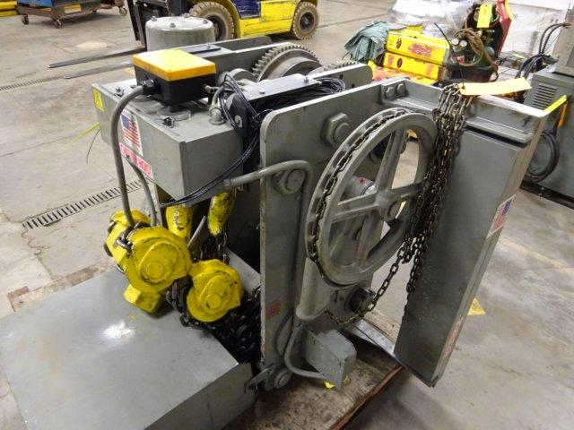 24 TON (48,000 LBS) CHESTER LOW HEADROOM ELECTRIC CHAIN HOIST: STOCK #10210