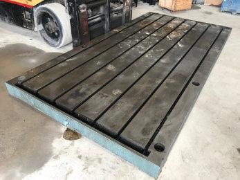 """USED FABRICATED STEEL SURFACE PLATE / LAYOUT TABLE 144"""" X 72"""" X 6"""", STOCK# 10640"""