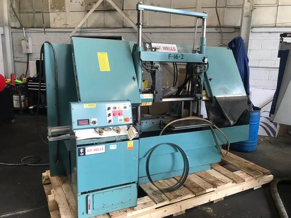 "16"" X 20"" W.F. Wells Model F-16-2 Semi-Automatic Dual Post High Speed Bandsaw, 2006"