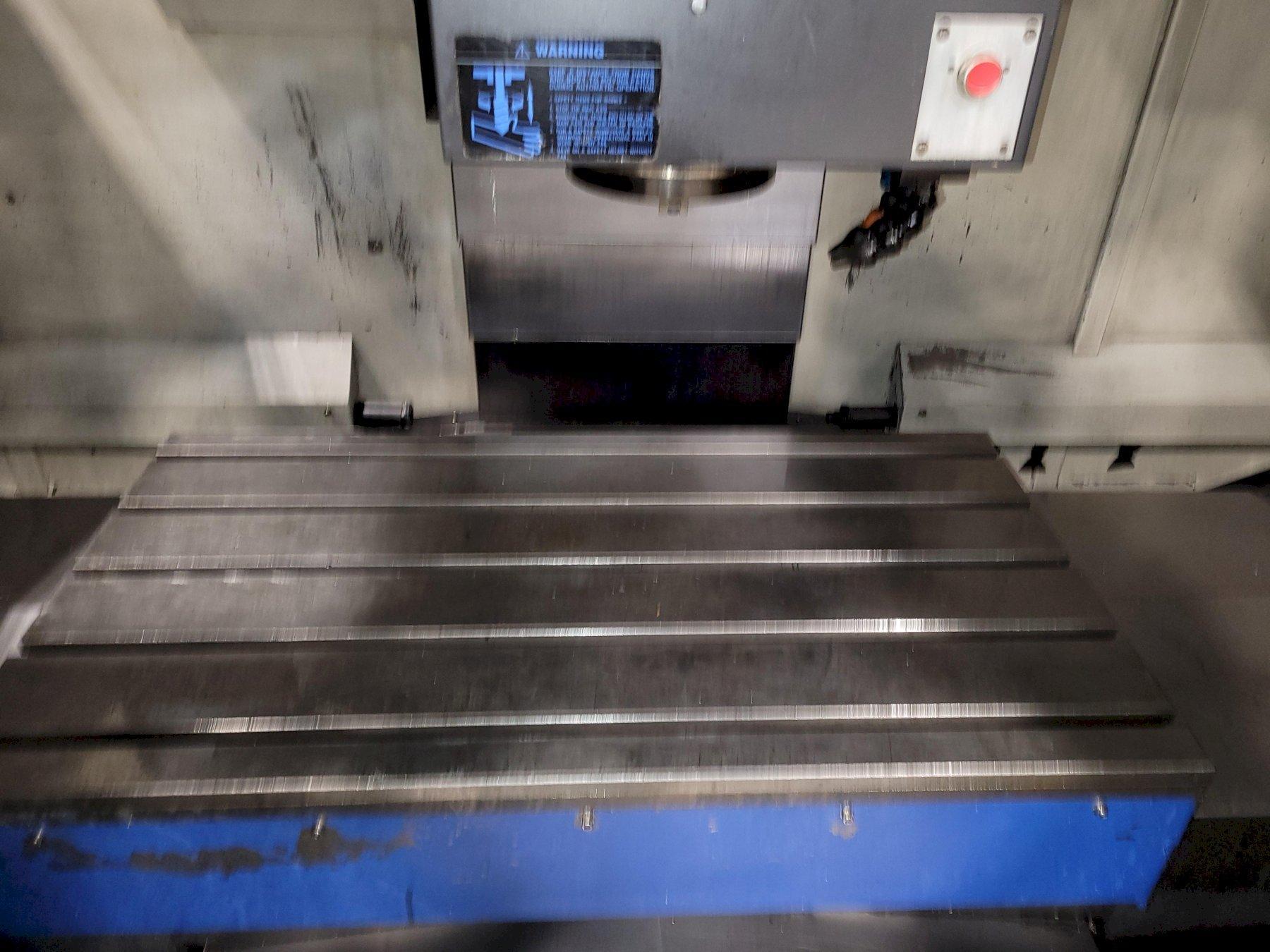 "Hwacheon Model Vesta 1050B Vertical Machining Center 25.5"" x 45"" Table. FANUC OiMD CNC 50 Taper."
