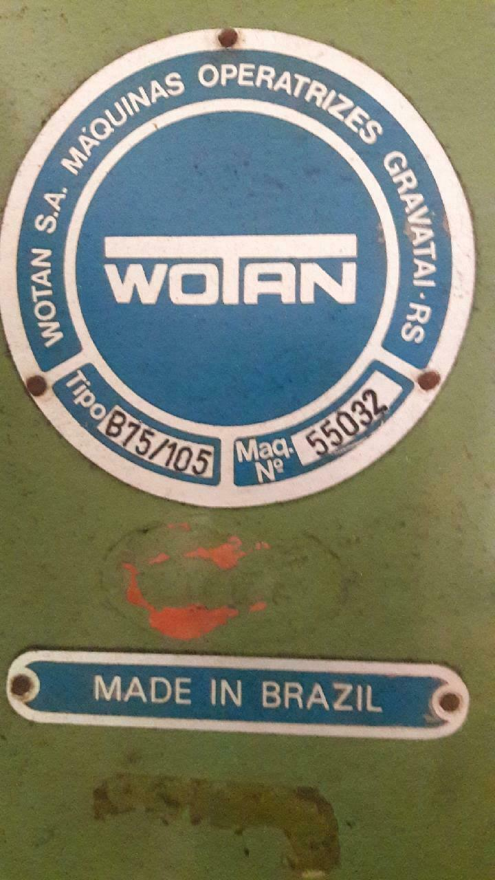 WOTAN B75/105 HORIZONTAL BORING MILL, 35 X 39 TABLE, 1250 RPM, 15 HP DRO Tooling  Rotary Table