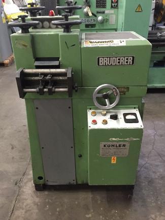 "4.72"" X .040"" Bruderer Flattener Model 10-120, Reconditioned, S/N 300032, STK#1138"