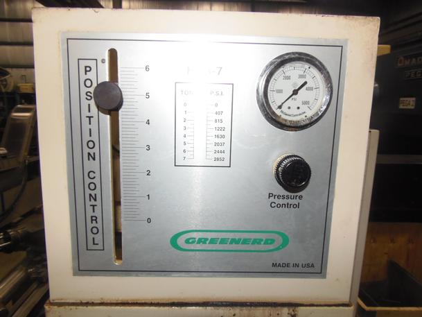 """7 Ton Greenerd Model HPB-7, 6"""" Stroke, C Frame With Stand, 1998"""