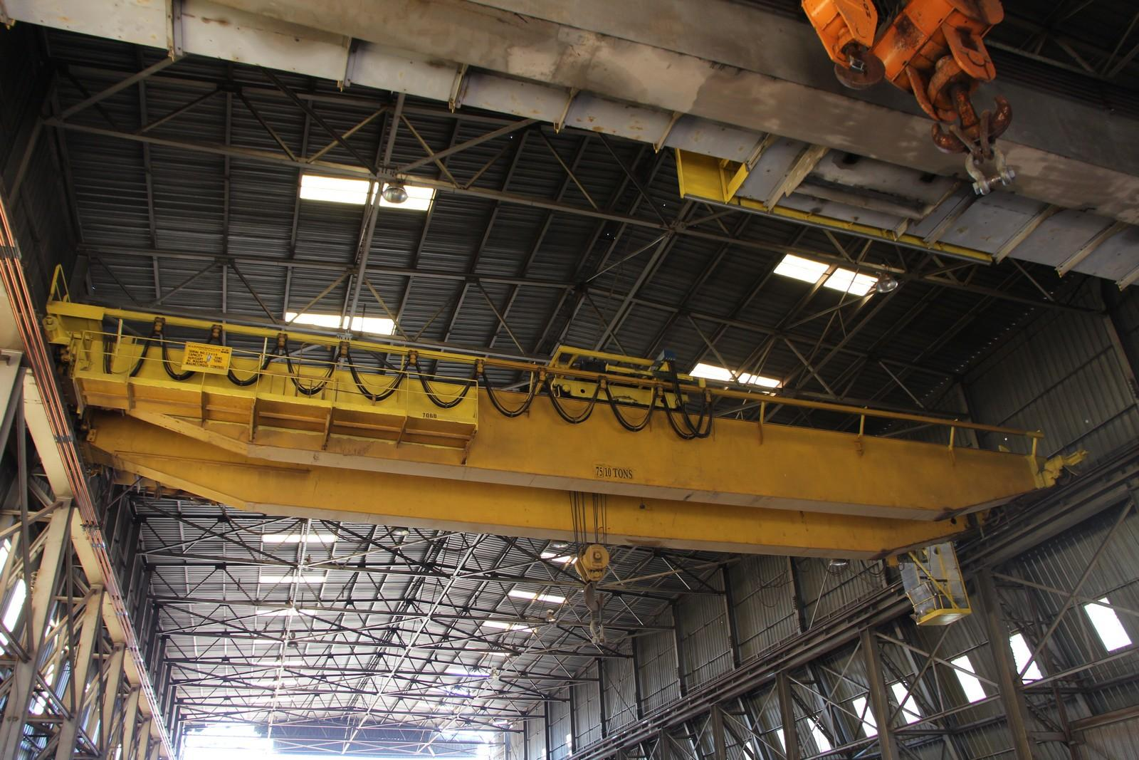 60/10 TON X 85' P & H OVERHEAD BRIDGE CRANE: STOCK #10887