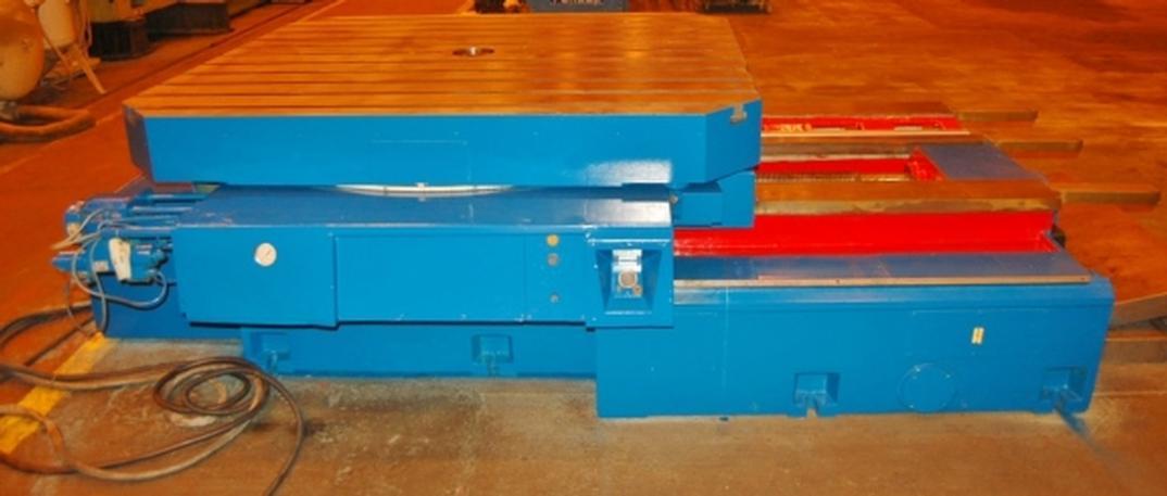 "78"" X 71"" Union Ti-1800, Power Infeeding Rotary Table, 30,000 Lb. Cap, 49"" Infeed, #22683"