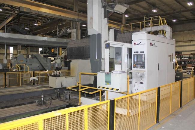 """Cincinnati Maag U5-1500 CNC 5-Face Tvlg Gantry, ATC, X-744"""",Y-144"""", 100"""" UR, '07 #28992"""