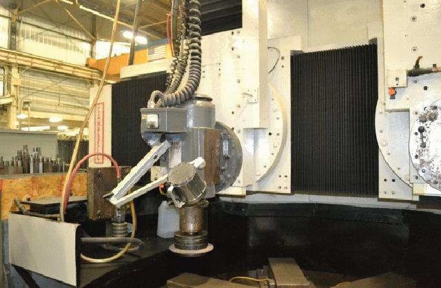 """66"""" Campbell G22, 4-Axis CNC, 82"""" Swing,48"""" UR, (2) Spindles, 3600 RPM, 1983 #21954"""