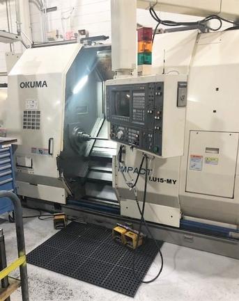 "Okuma LU-15MY-2SC/600, 20"" Swing, Twin Turret, Live Milling, Y-Axis, #30074"
