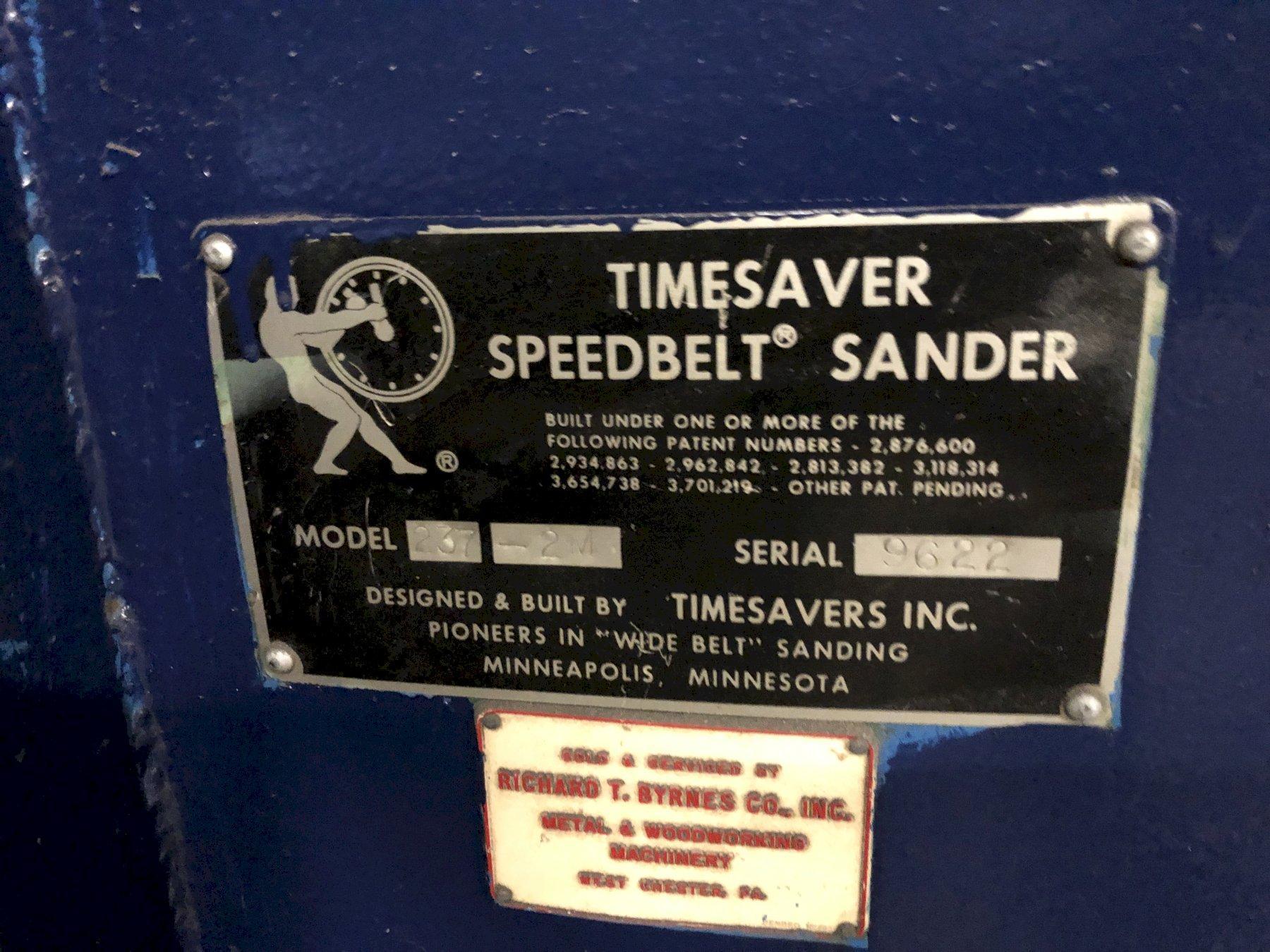 "37"" 2-HEAD TIMESAVER MODEL ##237-2M SPEEDBELT BELT FINISH SANDER: STOCK #11427"