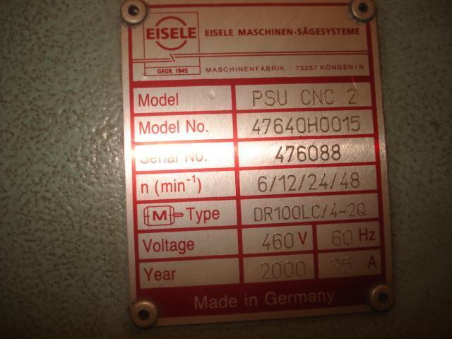 Eisele Model PSU-450-CNC-2 CNC Circular Sawing Center