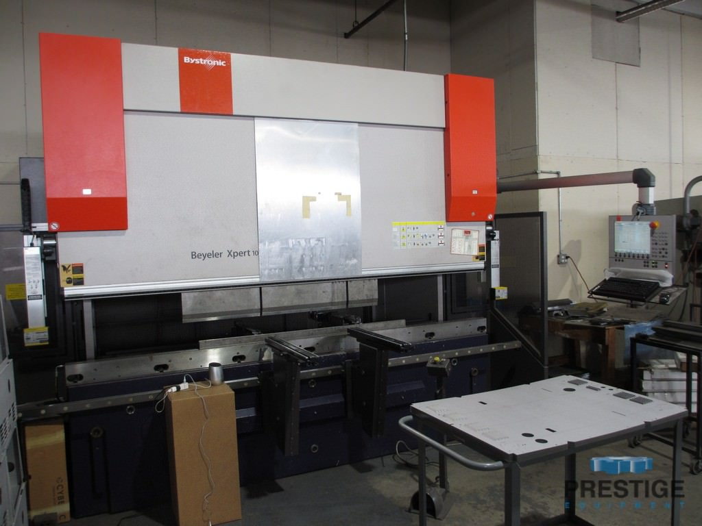 """Bystronic Xpert 100/3100, 110 Ton, 122"""" OA, 108"""" BH, 8-Axis Control, 5-Axis BG, Crowning, Extended Stroke, 2008, #31049"""