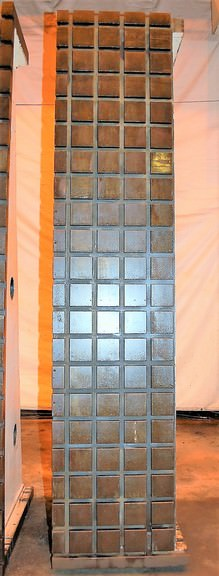 """(2) 127"""" X 26"""" X 47"""" CAST IRON T-SLOTTED ANGLE PLATES"""