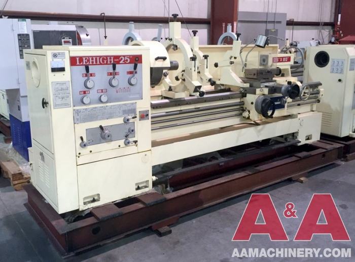 "NEW - Lehigh 25 X 80 Lathe with 4-7/8"" Spindle Bore"